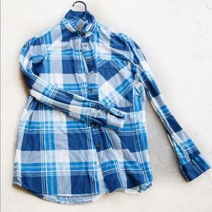 Rue 21 Blue Plaid Shirt